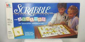 Vintage 1989 Scrabble for Juniors Milton Bradley Boardgames Crossword Classic