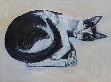"""Cat portrait 18"""" x 24"""" Cow Cat"""