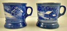 Currier & Ives Mugs Mug Coffee Shaving Vintage Old Homestead Wilderness Winter
