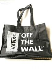 Vans Off The Wall Reusable Graphic Shopping Tote Bag Black And White Vans Bottom