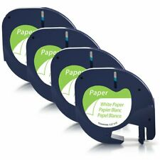 Replace DYMO LetraTag Refills 91330 10697 (S0721510) Paper Label Tape ,12mm x 4m