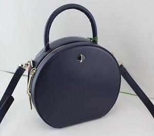 NEW AUTHENTIC KATE SPADE ANDI CANTEEN NAVI BLUE MESSENGER HANDBAG PXRUA186 WOMEN