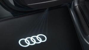 Audi Beam LED  Puddle lights 4G0052133G  X2 Rings Logo Genuine   Audi