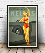 Kelly's  : Old Car Tyre Advertising Poster reproduction