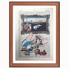 Asterix and Obelix Vs Dali - dictionary art print home persistence.. gift