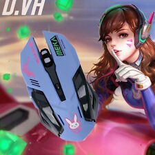 Anime Game Overwatch OW D.VA Cosplay Night Lights Laptop USB Wired Mouse New