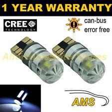 2x W5W T10 501 Errore Canbus libero white CREE LED Luce Laterale Lampadine Bright sl103003