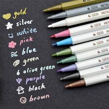 10X Color Metallic Fine Pen Pencil Marker DIY Album Dauber Pen Set Waterproof SS