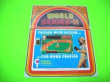 Century WORLD SERIES II Original 1976 Wall Remote Arcade Game Promo Sales Flyer