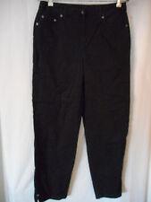 Talbots Size 8 Stretch Lightweight Black 5 pocket style cropped pants jeans