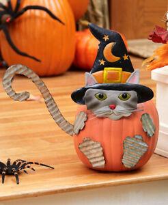 6 Teile Kätzchen Katze Tragend Witchs Hut Halloween Verzinkt Kürbis Poke-Ins