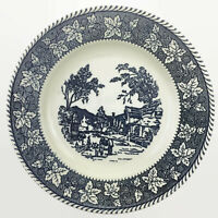 "Homer Laughlin Blue Shakespeare Country Stratwood Collection 10"" Dinner Plate"