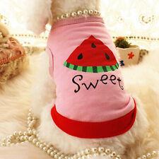 HK- Cute Pet Puppy Dog Cat Clothes Cotton Pink Watermelon Printed T-Shirt Vest