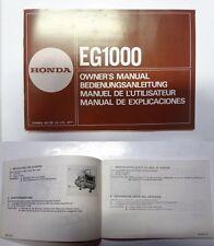Manuale manual libretto uso manutenzione generatore generator HONDA EG1000 multi