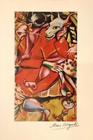 hand signed Chagall vintage 1963 lithograph; Picasso, Matisse, Dali contemporary