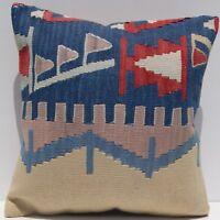 """18"""" Turkish kilim pillow Decorative turkish kilim pillow square kilim area rugs"""