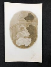 Vintage Postcard: RP Anon. People #B211: Grand Lady And Young Child