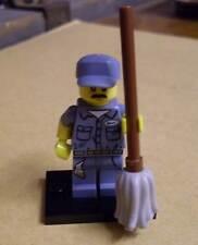 Lego Figur - Hausmeister ( Wischmopp grau ) Collectible Minifigures Serie 15 Neu