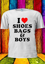 I Love Shoes Bags & And Boys Funny T-shirt Vest Tank Top Men Women Unisex 1812