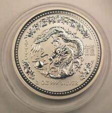 2000 Australian Lunar I Dragon 2 oz silver 2 dollars