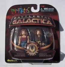 MINIMATES BSG. NUMBER THREE D'ANNA BIERS & NUMBER EIGHT SHARON VALERII. 2 PK.