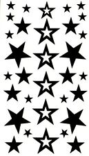 30+ Stars 2 Temporary Tattoos Fake Waterproof  Celebrity Style Black Body Art