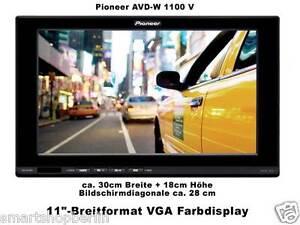 "Pioneer AVD - W1100 V  11""-Breitformat VGA Farbmonitor-fast 30cm Breite"
