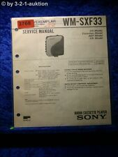 Sony Service Manual WM SXF33 Cassette Corder (#3768)