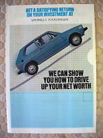 VW VOLKSWAGEN FULL LINE SALES BROCHURE 1981 NEW USA EDITION.