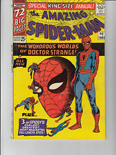 AMAZING SPIDER-MAN  #2 ANNUAL 1965  MARVEL -DOC STRANGE- LEE/ DITKO/ ROSEN..VG