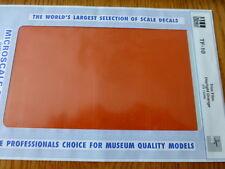 Microscale Decal #TF-10 / Trim Film / Size-7-1/4 x 4-1/2-Orange (SP) FS12246