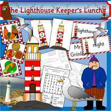 The Lighthouse Keeper's Lunch story resource pack on CD- EYFS, KS1, seaside