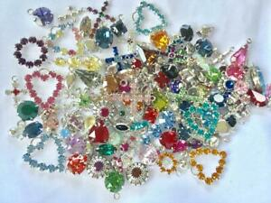 100 pieces Swarovski  Crystal Charms Assorted Styles