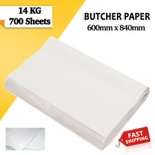 14kg Wrapping Butcher White Packing Paper 600 x 840mm Food Grade Agrade Quality