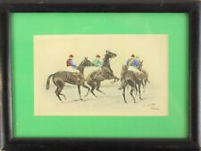 """""""Racehorse Hand-Coloured Plate by George Wright"""""""