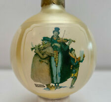 NORMAN ROCKWELL CHRISTMAS 1984 GLASS ORNAMENT IN ORIGINAL BOX VINTAGE