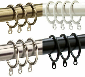 42mm Diameter Large Heavy Duty Metal Curtain Rings to fit 28mm poles, 10 PACK