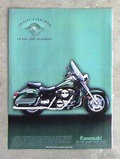 KAWASAKI VN1500 VULCAN NOMAD - Motorcycle Magazine Page Advertisement Brochure