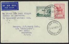 Australia 1935 First Flight On Holymans Airways Sydney To Canberra