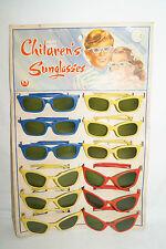 CATHAY Kinder Sonnenbrillen Verkaufsdisplay 60/70iger Jahre 12 Brillen 2 Typen