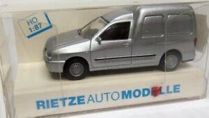 Rietze 1:87 VW Caddy II Transporter OVP silbermetallic - siehe Text