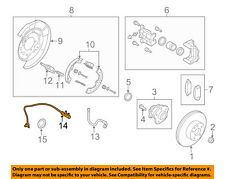 Infiniti NISSAN OEM 14-15 Q50 ABS Anti-lock Brakes-Rear Speed Sensor 479004GA0A