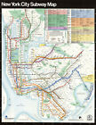 NYC New York Subway Train Map Transit Railroad Wall Art Poster Print Home Decor