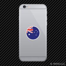 Round Australian Flag Cell Phone Sticker Mobile Australia AUS AU