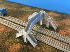 Pedestrian Bridge Walkway Over 2 -3 Tracks - Z Scale 1:220 No Assembly Required!