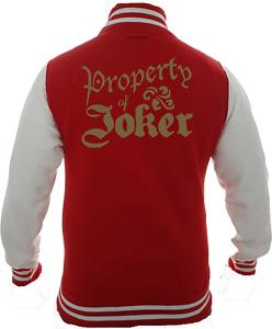 Property of Joker Varsity Jacket - Inspired By Harley Quinn Suicide Squad Joker