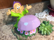 """Disney """"DOPEY"""" Snow White Dwarf Solar Garden Statue Figurine PINK Gem Lights Up"""