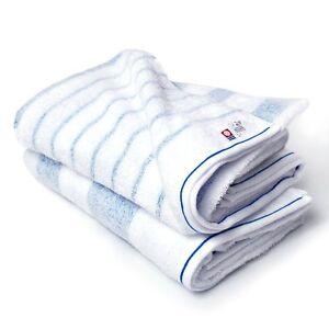 Japanese Imabari Bath Towel 2 pcs set Cotton 100% 125 x 65cm Blue Made in JAPAN