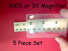 5 Each 300% or 3X Fresnel Lens Magnifier Credit Card Size - Ships from Colorado