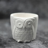 Nicole Silicone Concrete Mold 3D Owls Shape Flowerpot Cement Mould Reusable Tool
